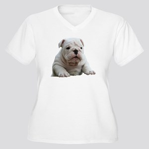 Bulldog 1 Women's Plus Size V-Neck T-Shirt