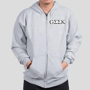 Greek Geek Zip Hoodie