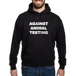 Against Animal Testing Hoodie (dark)