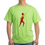 Jazz Dancer #1 Green T-Shirt
