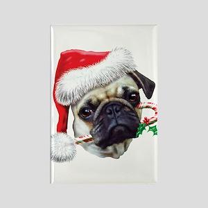 Pug Christmas Rectangle Magnet