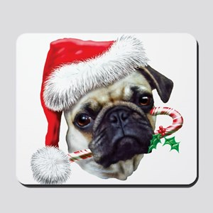 Pug Christmas Mousepad