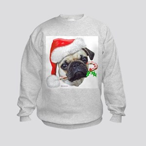 Pug Christmas Kids Sweatshirt