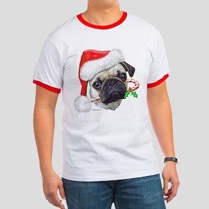 Pug Christmas Ringer T