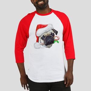 Pug Christmas Baseball Jersey