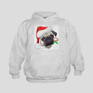 Pug Christmas Kids Hoodie