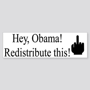 Redistribute this! Bumper Sticker