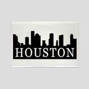 Houston Skyline Rectangle Magnet