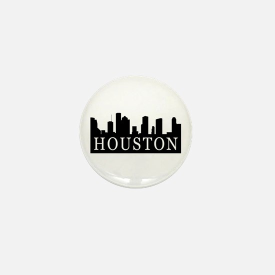 Houston Skyline Mini Button