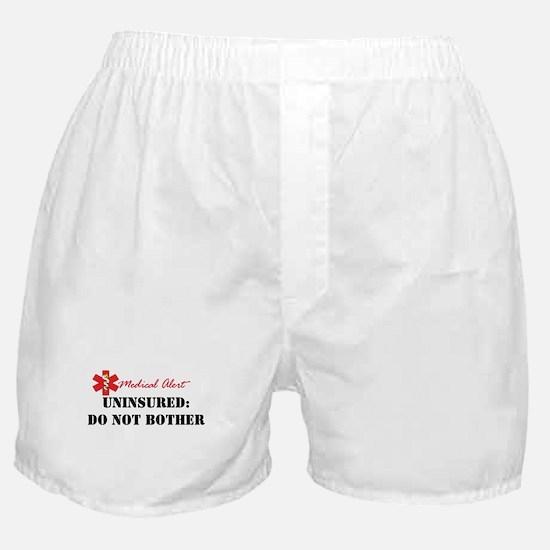 Medic Alert - Uninsured Boxer Shorts