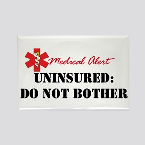 Medic Alert - Uninsured Rectangle Magnet