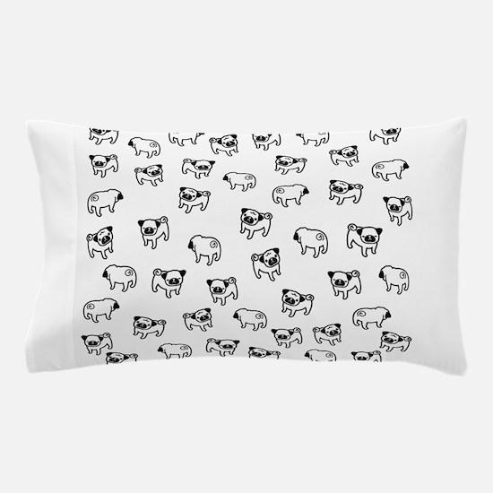 Pug dog pattern Pillow Case