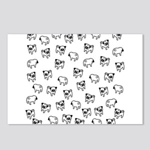 Pug dog pattern Postcards (Package of 8)