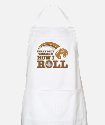 kerry blue terrier's how I roll BBQ Apron