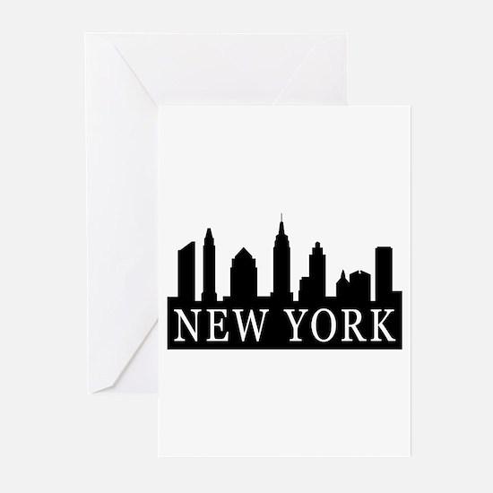 New York Skyline Greeting Cards (Pk of 10)