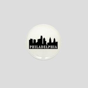Philadelphia Skyline Mini Button