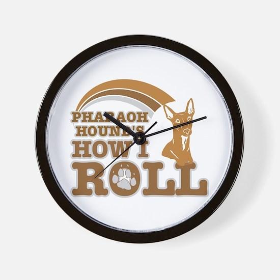 pharaoh hound's how I roll Wall Clock