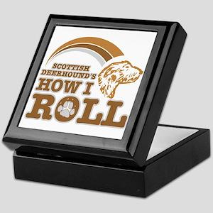 scottish deerhound's how I roll Keepsake Box