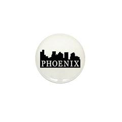 Phoenix Skyline Mini Button (100 pack)