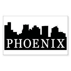 Phoenix Skyline Rectangle Decal