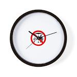 No hawkers Wall Clock