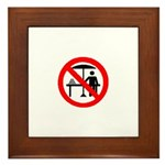 No hawkers Framed Tile