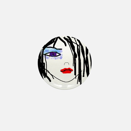 Goth Girl Mini Button (10 pack)