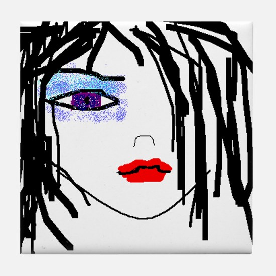 Goth Girl Tile Coaster