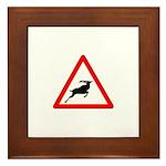 Beware of the buck Framed Tile