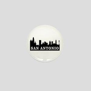 San Antonio Skyline Mini Button