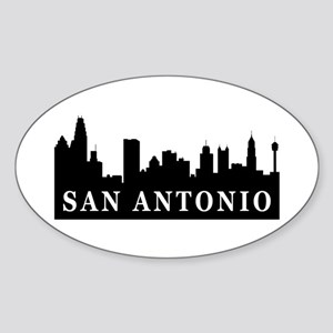 San Antonio Skyline Oval Sticker