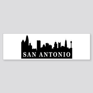 San Antonio Skyline Bumper Sticker