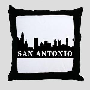 San Antonio Skyline Throw Pillow