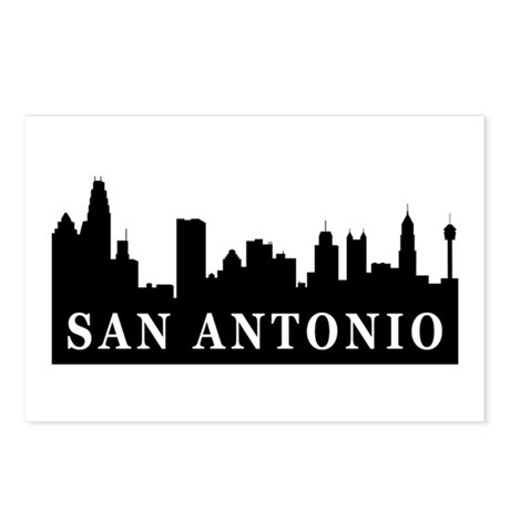 San Antonio Skyline Postcards (Package of 8)