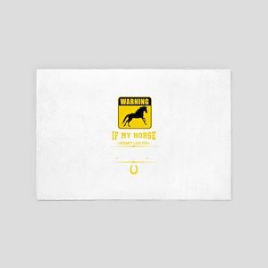 Warning Horse 4' x 6' Rug