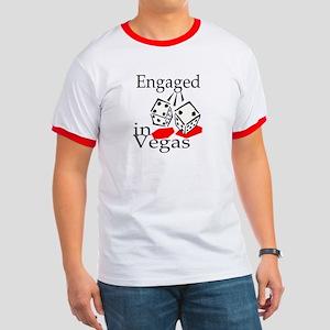 Engaged In Vegas Ringer T
