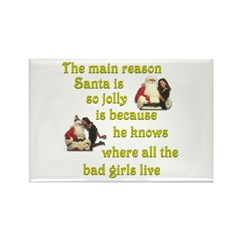 Santa knows where the bad girls live Rectangle Mag