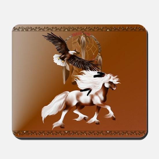 Horse and Eagle Mousepad