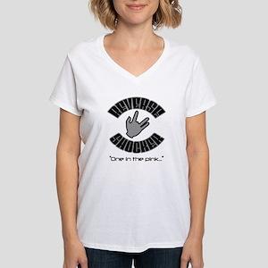 Reverse Shocker (by Deleriyes) Women's V-Neck Tee
