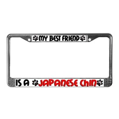 Japanese Chin License Plate Frame
