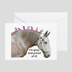 Proud to be Grey Percheron Greeting Card