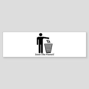 Save The Planet Bumper Sticker