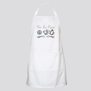 Peace Love Penguins BBQ Apron