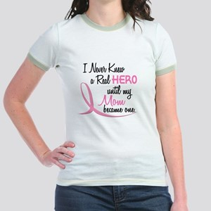 Never Knew A Hero 3 Mom BC Jr. Ringer T-Shirt