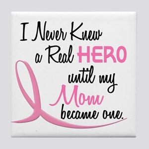 Never Knew A Hero 3 Mom BC Tile Coaster
