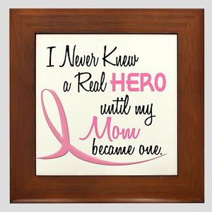 Never Knew A Hero 3 Mom BC Framed Tile