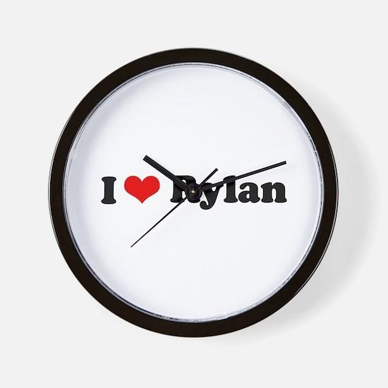 I Love Rylan Wall Clock