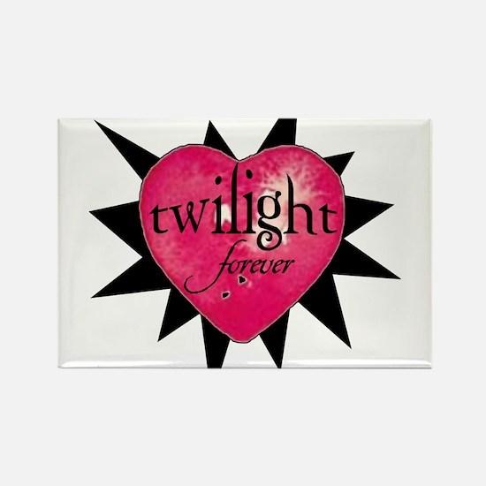 twilight forever heart /blkst Rectangle Magnet