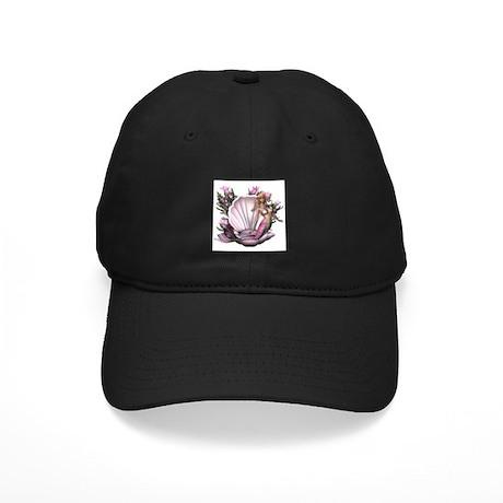 Pretty In Pink Mermaid Black Cap
