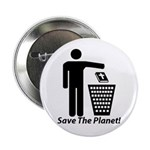 "Save The Planet 2.25"" Button"